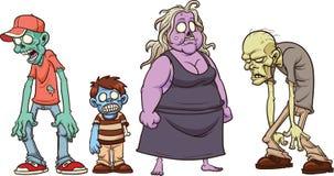 Zombie del fumetto Immagini Stock