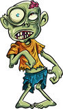 Zombie del fumetto con grandi occhi Immagine Stock