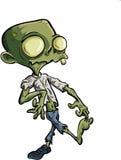 Zombie del fumetto con i vestiti strappati Immagine Stock Libera da Diritti