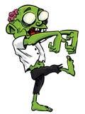 Zombie del fumetto con il cervello esposto Fotografie Stock Libere da Diritti