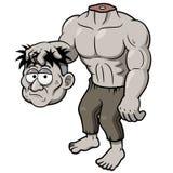 Zombie del fumetto senza testa Fotografia Stock