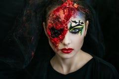 Zombie della donna Fotografia Stock