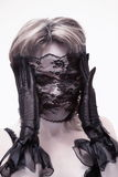 Zombie della femmina di Halloween Immagine Stock