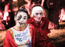 Zombie della gente Fotografie Stock