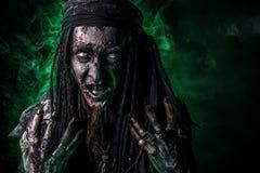 Zombie della luce verde Fotografie Stock Libere da Diritti