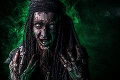 Zombie des grünen Lichtes Lizenzfreie Stockfotos
