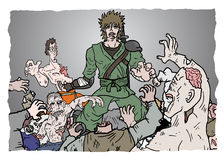 Zombie di attacco Fotografia Stock