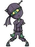 Zombie di Ninja del fumetto Fotografia Stock Libera da Diritti