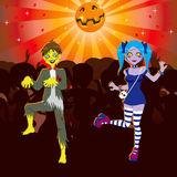 Zombie Disco Halloween Party vector illustration