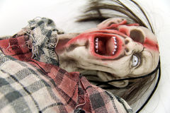 Zombie. Doll goes to father death Stock Photos