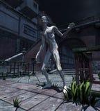 Zombie door Maanlicht Royalty-vrije Stock Afbeelding