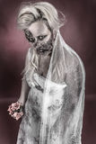 Zombie bride. Is a zombie dressed in a wedding dress stock photography