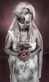 Zombie bride. Is a zombie dressed in a wedding dress Royalty Free Stock Photography