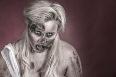 Zombie bride Stock Images