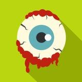 Zombie eyeball icon, flat style Stock Photography