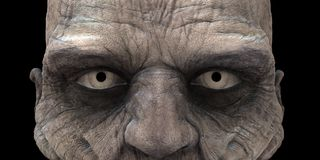 Zombie Eyes. High resolution rendering with using global illumination Stock Photography