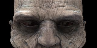 Zombie Eyes. High resolution rendering with using global illumination Royalty Free Stock Image