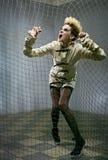 zombie för grå lokal för flicka läskig Fotografering för Bildbyråer