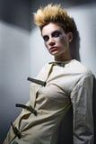zombie för grå lokal för flicka läskig Royaltyfri Foto
