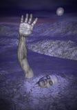 Zombie für Halloween - 3D übertragen Lizenzfreie Stockfotos