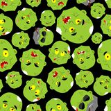 Zombie face pattern seamless. Zombies head background. Undead texture.  vector illustration