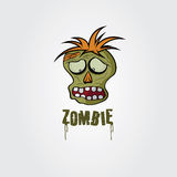 Zombie face vector design template Royalty Free Stock Photo