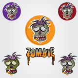 Zombie face vector design template Stock Photo