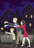 Zombie family Stock Images