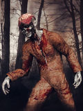Zombie in a forest Royalty Free Stock Photography