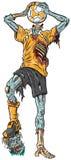 Zombie-Fußball-Spieler-Vektor-Karikatur Lizenzfreie Stockfotos
