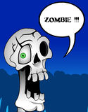 ZOMBIE. Funny, horror zombie, skull or death Royalty Free Stock Image