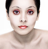 Zombie girl. Zombie beauty pale girl and red make-up Royalty Free Stock Photography