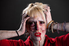 Zombie girl Royalty Free Stock Photos
