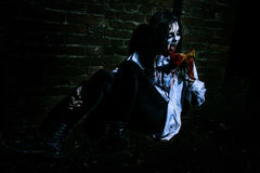 Zombie girl with ax Royalty Free Stock Photography