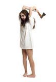 Zombie girl with axe Royalty Free Stock Photos