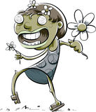 Zombie Girl with Flowers Stock Photo