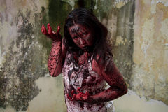 Zombie girl Stock Photo