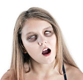 Zombie girl. Young scary looking zombie girl Stock Image