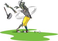 Zombie Golfer Royalty Free Stock Photos