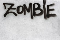 Zombie graffiti Stock Photography