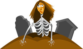 Zombie from grave. Cartoon graphic of zombie for Halloween royalty free illustration