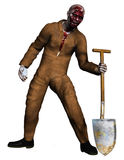 Zombie grave-digger Stock Photography