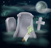 Zombie grave illustration Stock Images