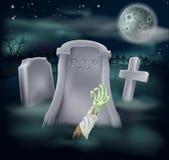 Zombie grave illustration royalty free illustration