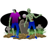 Zombie Halloween royalty-vrije stock fotografie