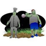 Zombie Halloween stock afbeelding