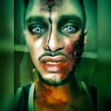 Zombie Halloween Arkivfoton