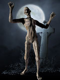 Zombie - Halloween-Abbildung Lizenzfreie Stockfotos
