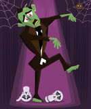 Zombie halloween character vector illustration Royalty Free Stock Photography