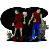 Zombie Halloween Royalty Free Stock Photos